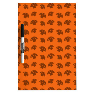 Cute orange mushroom pattern Dry-Erase whiteboard