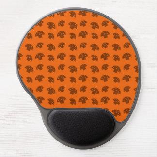 Cute orange mushroom pattern gel mouse pad