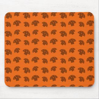 Cute orange mushroom pattern mouse pad