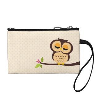 Cute Orange Owl Coin Wallet