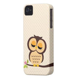 Cute Orange Owl iPhone 4 Case-Mate Case