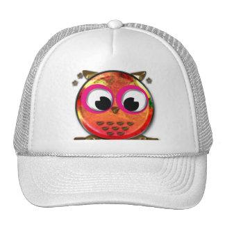 Cute orange owl trucker hat
