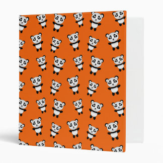Cute orange panda pattern binder
