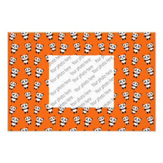 Cute orange panda pattern photographic print