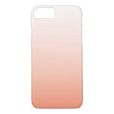 Beach Themed Cute Orange Peach Ombre Girly iPhone 7 Case