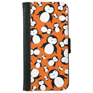 Cute orange penguin pattern wallet phone case for iPhone 6/6s