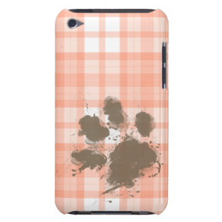 Cute Orange Plaid; Funny Dog Barely There iPod Covers