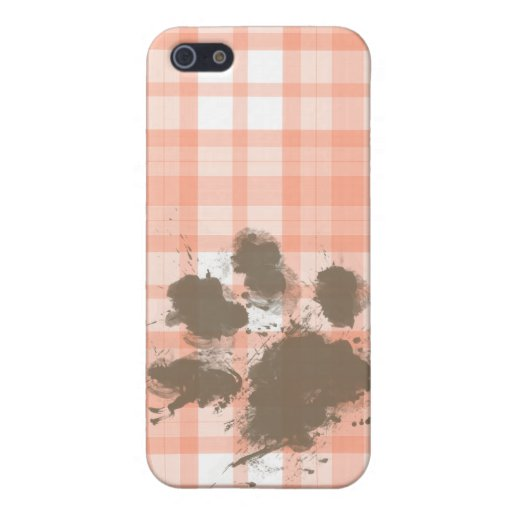 Cute Orange Plaid; Funny Dog iPhone 5 Case