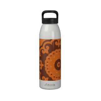 Cute Orange Print Water Bottle