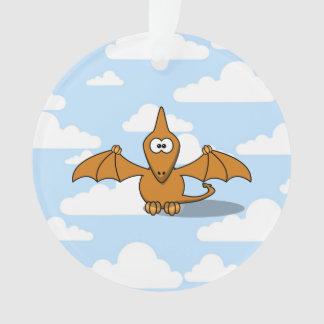 Cute Orange Pterodactyl Cartoon