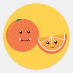 Cute Orange Round Sticker