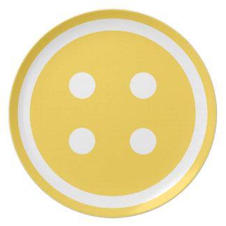 Cute Orange Sewing Button Dinner Plates