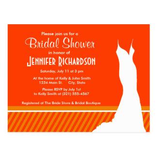 Cute Orange Stripes; Striped Postcard