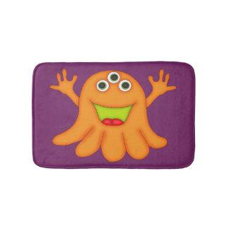 Cute Orange Three-Eyed Monster-Kids Bathroom Mat