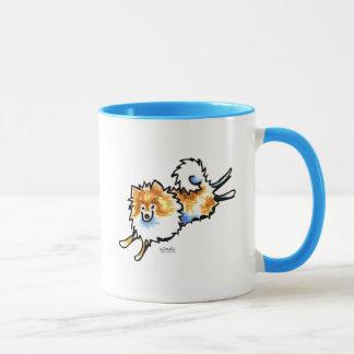 Cute Orange White Pomeranian Mug