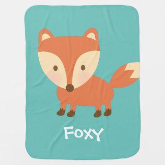 Cute Orange Woodland Fox For Babies Stroller Blanket
