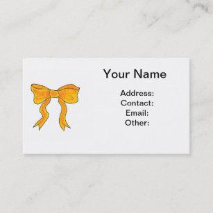 Orange bow business cards templates zazzle cute orange yellow bow business card colourmoves