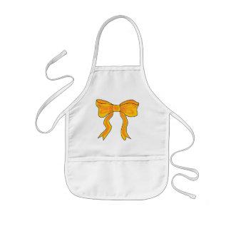 Cute Orange Yellow Bow Kids' Apron