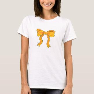 Cute Orange Yellow Bow T-Shirt