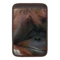 Cute Orangutan Face Photo for Animal Lovers MacBook Air Sleeve