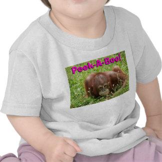 Cute Orangutan Peek-A-Boo! Infant Baby Shirt