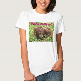 Cute Orangutan Peek-A-Boo! Women's Babydoll Shirt