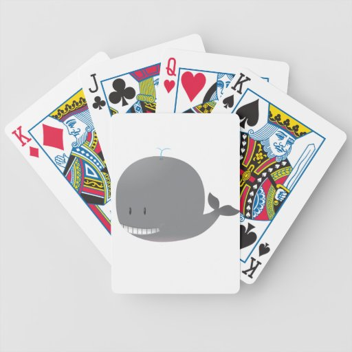 Cute Orca Bicycle Playing Cards