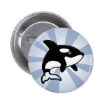 Cute Orca / Killer Whale Button