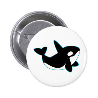 Cute Orca Killer Whale Buttons