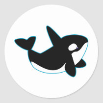 Cute Orca (Killer Whale) Classic Round Sticker
