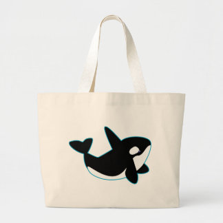 Cute Orca (Killer Whale) Large Tote Bag