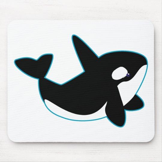 Cute Orca (Killer Whale) Mouse Pad