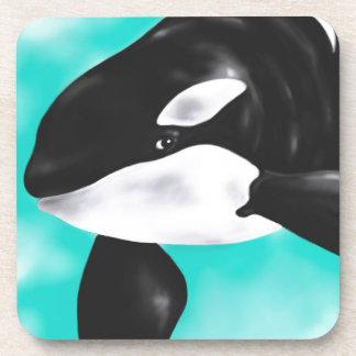 Cute Orca Whale Beverage Coaster