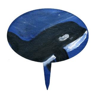 Cute orca whale cake topper