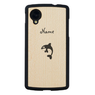 Cute orca whale carved® maple nexus 5 case