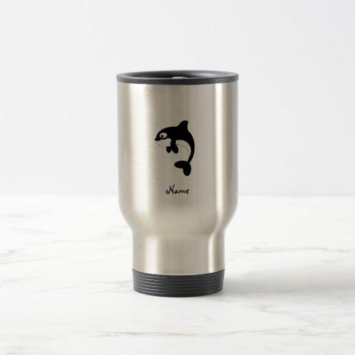 Cute orca whale coffee mug