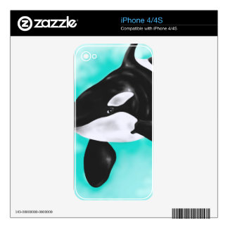 Cute Orca Whale Decal For The iPhone 4S