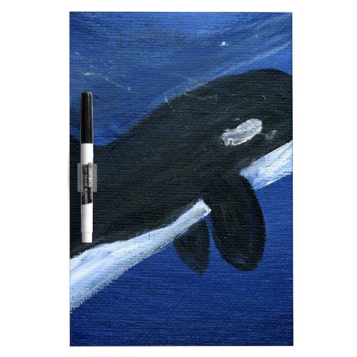 Cute orca whale dry erase whiteboard