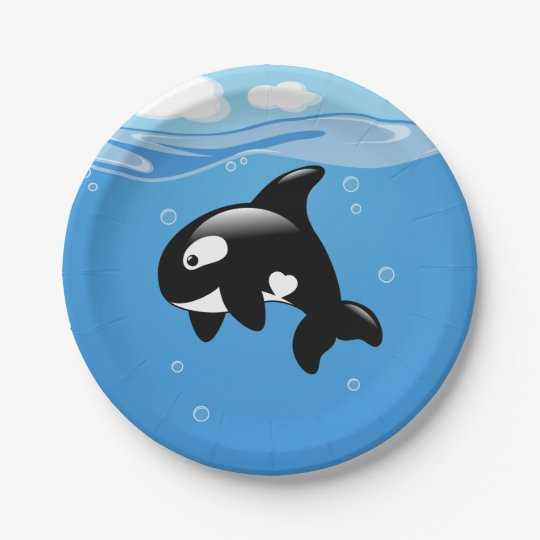 Cute Orca Whale in Ocean Paper Plate  sc 1 st  Zazzle & Cute Orca Whale in Ocean Paper Plate | Zazzle.com