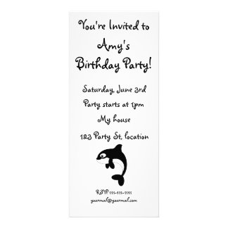Cute orca whale personalized announcement