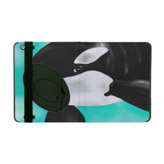 Cute Orca Whale iPad Folio Case