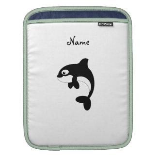 Cute orca whale iPad sleeve