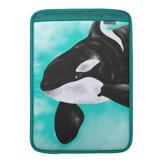 Cute Orca Whale MacBook Sleeve