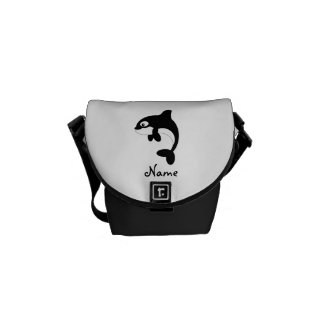 Cute orca whale courier bags