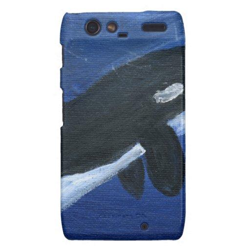 Cute orca whale motorola droid RAZR covers