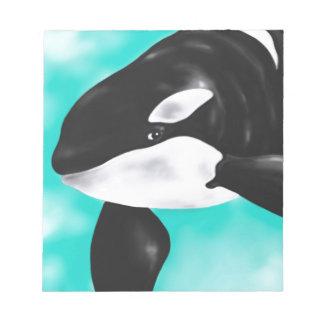 Cute Orca Whale Notepad