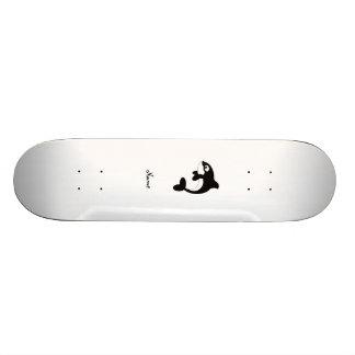 Cute orca whale skateboard deck