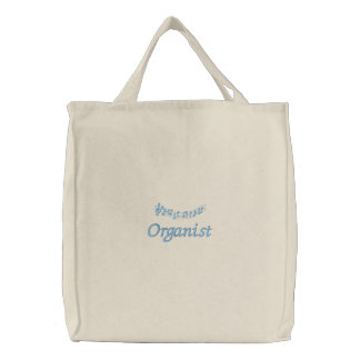Cute Organist Music Totebag Embroidered Tote Bag