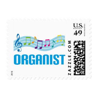 Cute Organist Staff Postage