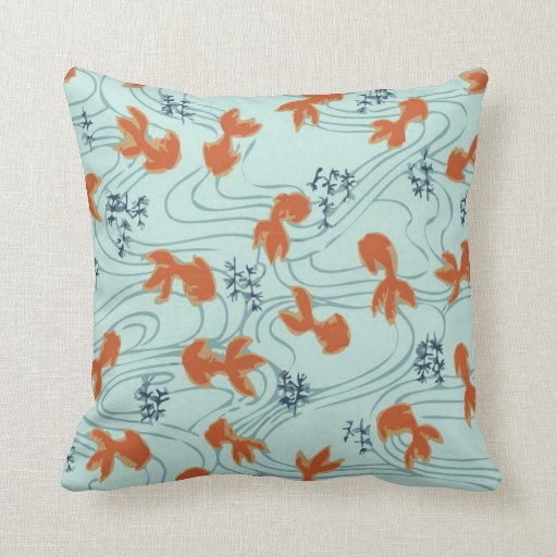 Cute Oriental Japanese Goldfish Koi Fish Pillow